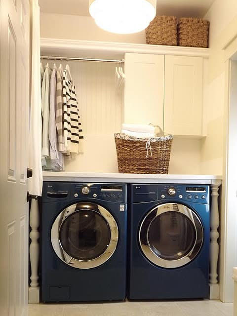 Laundry Room With Clothes Rod Blog